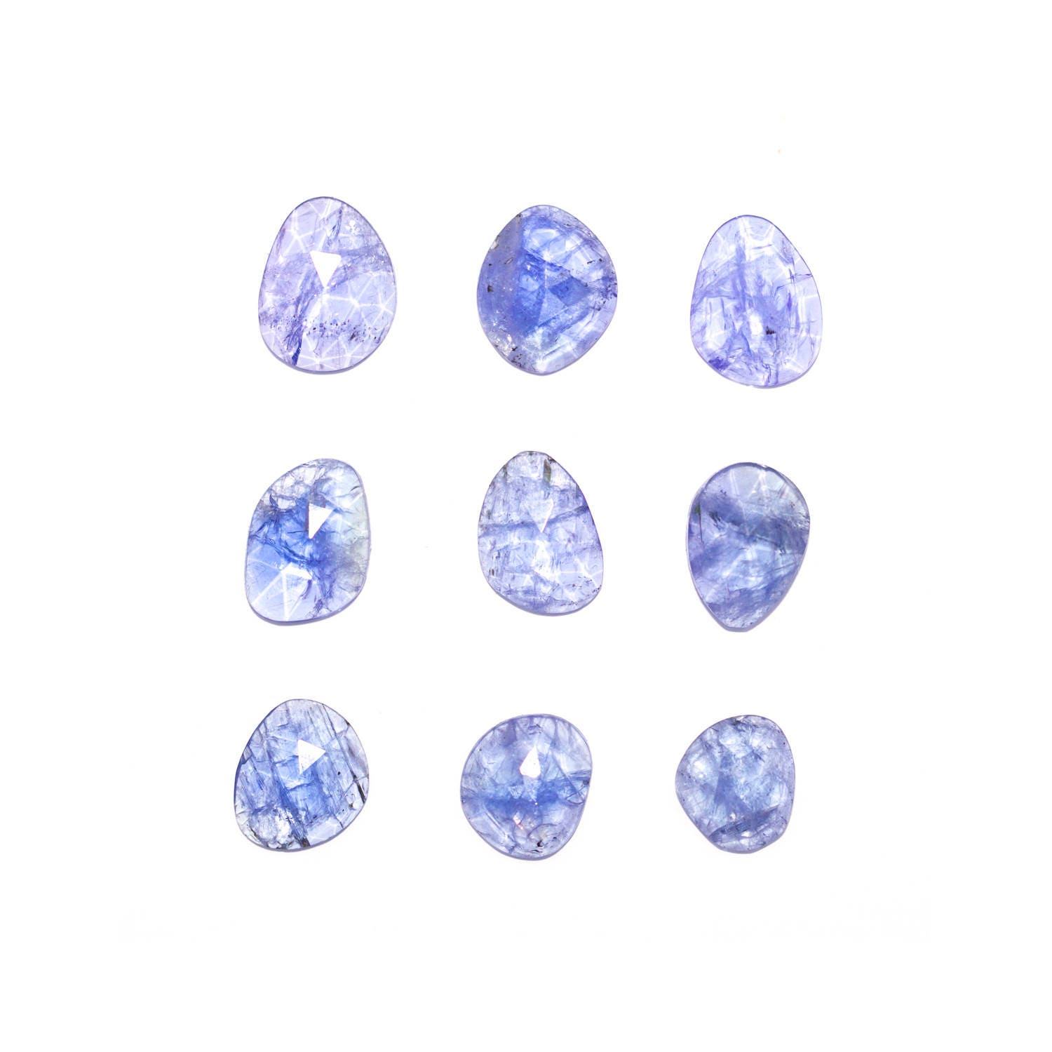 gemstone loose lot mineral raw tanzanite natural roundsnroses rough blue pin specimen