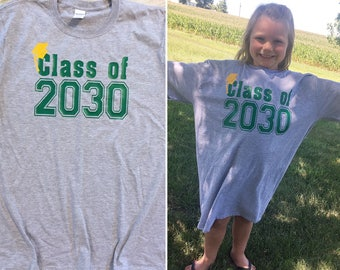 Class of 2031 shirt | 2030 | 2032 | First Day of Kindergarten | First Day of School Tradition | Watch Me Grow | Customize Colors