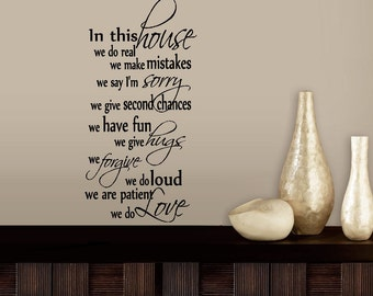 In this house we do love #5: wall or window decal