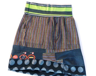 One-of-a-kind Skirt made from recycled clothing - Reserved listing