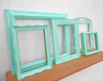 Key West Frame Set of 5 Picture Frames-Empty Wall Gallery or Scatter Frames. Family Photos, Wedding Photo Frames-Beautiful Beach House Decor
