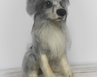 Pet loss gift, Custom pet portrait, Dog memorial gift, Custom made dog, Custom dog figurine, Needle felted dog, Dog sculpture, For dog lover