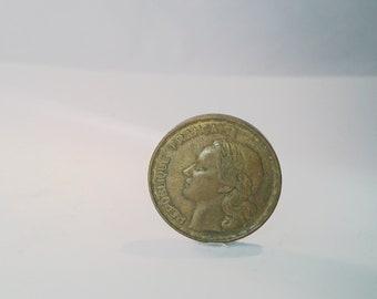 1953 Queen Elizabeth 50 Francs republished francaise