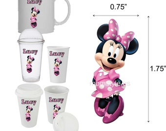 Minnie Mouse Cup Decal - personalized