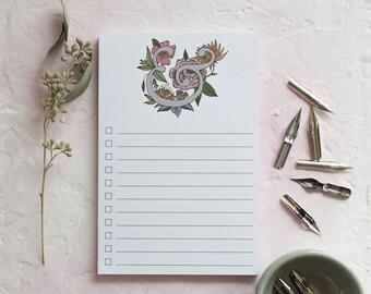 Ampersand Notepad | Cute Notepad | Desk Office Notepad | Bold Art Notepad | Stocking Stuffer Notepad | Fun Bridesmaids Gift