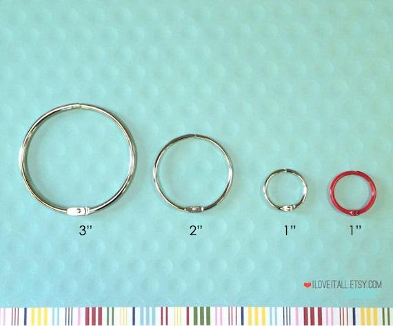 Snap Ring . Mini Washi Tape Ring 3 Inch Book Binder O Rings .