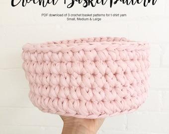 PDF pattern for Crochet basket