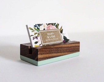 Business card holder etsy reheart Gallery