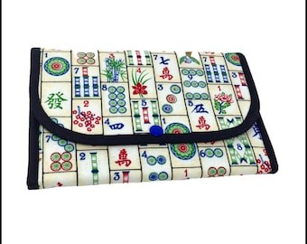 "Tri-Fold ""Mahjong!"" Cosmetic/Accessory Bag"
