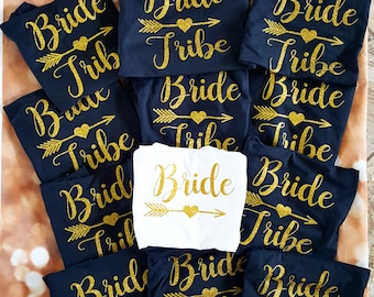 Bride Shirt-Bride Tribe-Personalized T Shirt-Bridal Party shirt-Bachelorette Shirt-Bride Tribe Shirt-.Wedding Shirt-Wedding Gifts-Bridesmaid