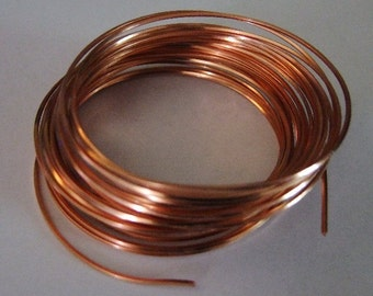 21 GA Half Round Copper Pro Craft Wire 7 Yards