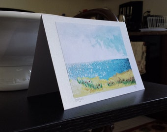 Beach Grass Art Print Greeting Card