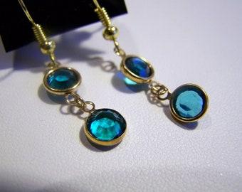 Dangle Channel Earrings Swarovski Crystal