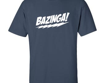 Bazinga T-Shirt - Sheldon Cooper Saying - Big Bang Theory Graphic Tee