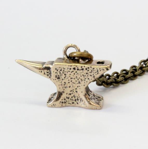 Solide Bronze Amboss Schmiede Amboss Anhänger Amboss Halskette