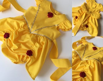 Belle Romper - Belle Costume - Belle Birthday Outfit - Belle dress - Beauty and the Beast - Beauty and the Beast costume