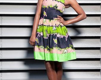 KWESIYA / ARLET Dress in Wax and Bazin