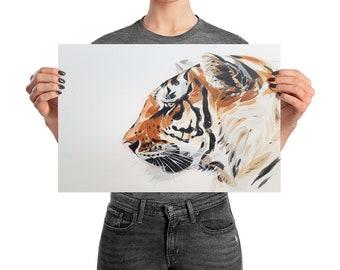 tiger wall art, tiger print, tiger, tiger wall decor, tiger poster, tiger art, big cat print, big cat wall art, tiger decor, wall decor