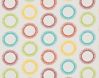 Roar Circles Bright Robert Kaufman, 100% Cotton Quilting Fabric Apparel,  Fabric by the Yard
