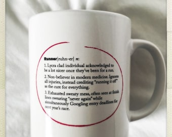 "Dictionary Definiton mug ""Runner"""
