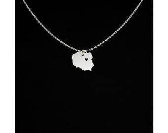 Poland Necklace - Poland Jewelry - Poland Gift