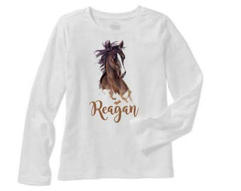 Horse Personalized Shirt, Cowgirl