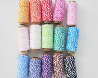 18 metres 2 ply cotton bakers twine