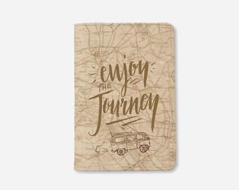 Summer Travel Enjoy Journey Passport cover,leather passport cover,passport holder,passport case,gift for her