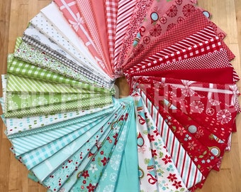 Vintage Holiday Fabric bundle by Bonnie and Camille for Moda