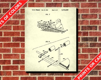 Gym Wall Art, Weight Lifting Patent Print, Weights Decor, Sports Poster, Body Builder Gift