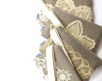 Bridal Wristlet Set - Bridesmaids Set - Wedding Party Gift
