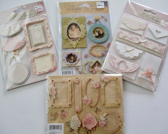 stickers - new in original package, K & Company, Elizabeth Brownd, Grand Adhesions, La Boutique, acid and lignin free, set #1