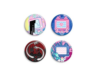 Static Pin-Back Buttons