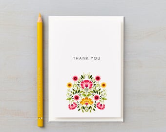 Love Amongst the Flowers Design Thank You cards