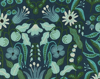Cotton + Steel - Rifle Paper Co. - Amalfi Collection - CANVAS Freja in Turquoise