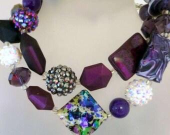 Womens Necklace, Grape Signature Necklace, 54cm
