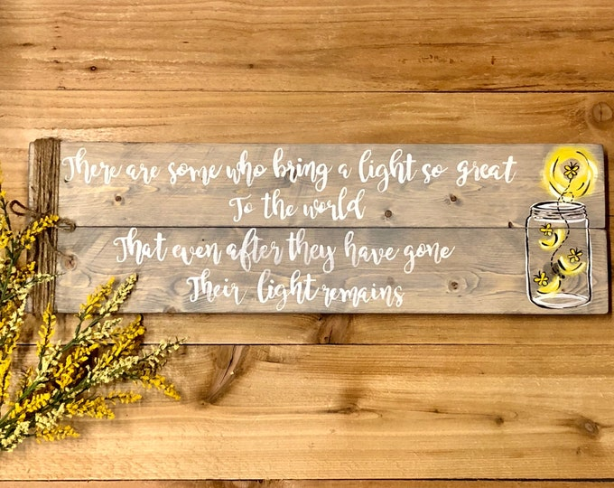 Firefly Wall Art. Firefly in a Jar. Memorial Gift. Memorial Gift Mom. Memorial Angel. Mom From Daughter. Special Education Teacher Gift.