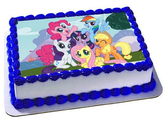 My Little Pony Edible Cake Topper Frosting Sheet My Little