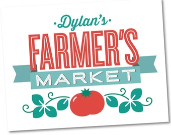 Farmer's Market Welcome Sign, Personalized Birthday Party Décor // FARMER'S MARKET