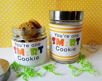 You're One Smart Cookie Label Teacher Appreciation   Thanks Teacher   Gifts