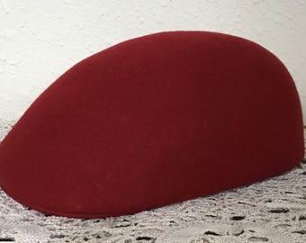 60's Vintage Red Newsboy  Hat