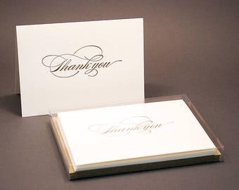 Burgues Letterpress Thank You Cards - Set of 6