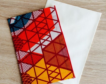 Postcard wax Triangles & paprika card *.