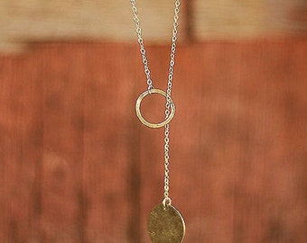 Minimal Y Necklace