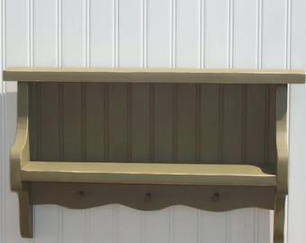 small wainscotted shelf
