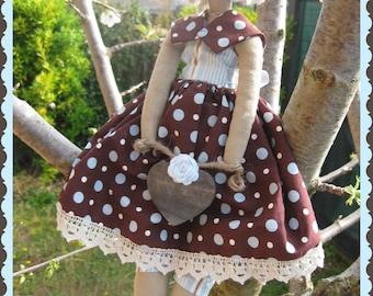 Tilda Doll - Romantic girl with Heart.