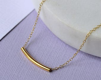 Handmade Bar Necklace - Gold Fill | layering necklace | bar necklace | modern necklace | minimal jewellery | everyday | mother's day