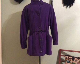 Vintage 1980s Braefair dark purple women's jacket