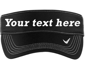Embroidered Nike Visor,  Custom Golf Visor