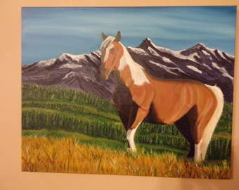 Horse in spring time